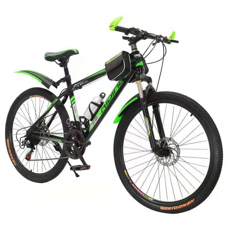Carbon Steel 26'' 3 Knife Wheels Bike With 21 Speeds (Green)