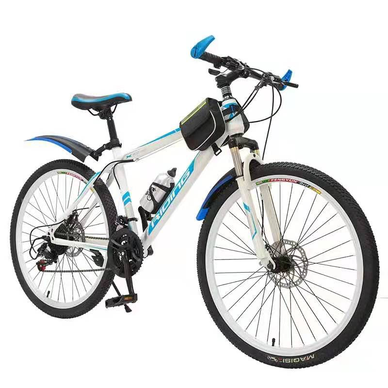 Carbon Steel 26'' 3 Knife Wheels Bike With 21 Speeds (White)